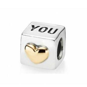 Valentines gift!Authentic Pandora charmw/ 14K gold